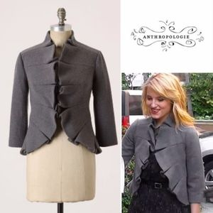 Tabitha Wool Terrace House Ruffle Blazer Jacket